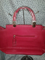 Womens Red Casual Evening Hand Bag Shoulder Purse