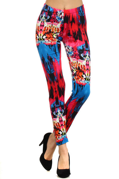 Womens Still Mania Graphic Designed Leggings S M L