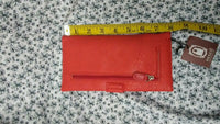 Womens Trifold Wallet Blue, Black, Red, Green, Pink And Gray