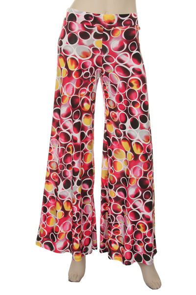 Womens Balloon Graphic Designed Flare Pants S, M, L