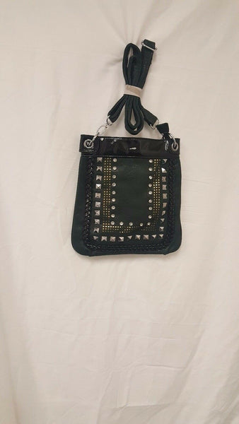 Womens Green And Black Crossbody Purse