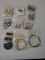 Lot of 10 Gorgeous Blingy Pierced  Earrings.
