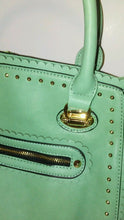 Load image into Gallery viewer, Womens Mint Green Apple Shoulder Handbag Purse With Gorgeous Studs