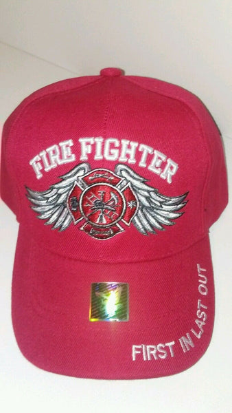 Mens Firefighter Baseball Cap