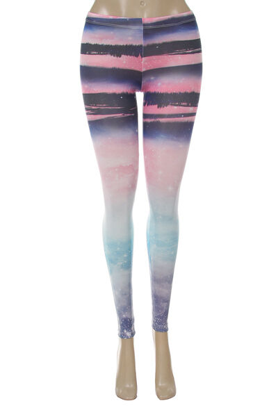 Womens Rainbow Graphic Designed Leggings
