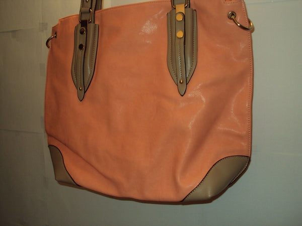 Womens Peach Extra Large Shoulder Purse