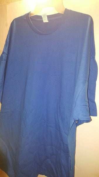 Big And Tall Mens Basic Plain Plus Size T-Shirt Burgundy And Blue Size 3X