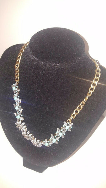 Fashion Turquoise Blue Starlight Statement Necklace Piece