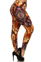 Lion Designed Leggings 2X