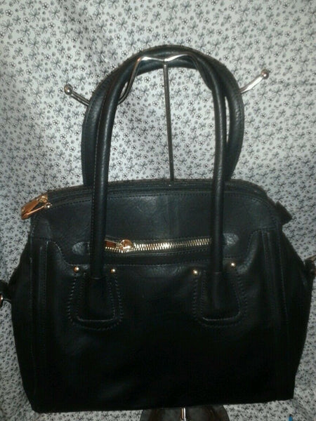 Womens Black Faux Leather Casual Evening Purse