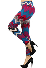 Load image into Gallery viewer, Womens Chevron Print Leggings M, L