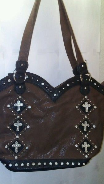 Womens Chocolate Brown Shoulder Purse