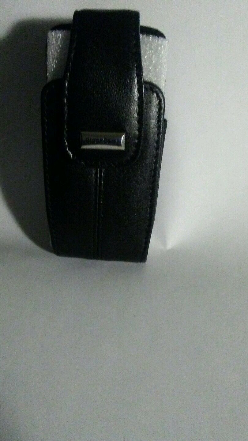 Blackberry Black Leather Belt Clip Case