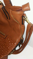 Diophy 1755 Womens Hershey Brown Shoulder Handbag Purse