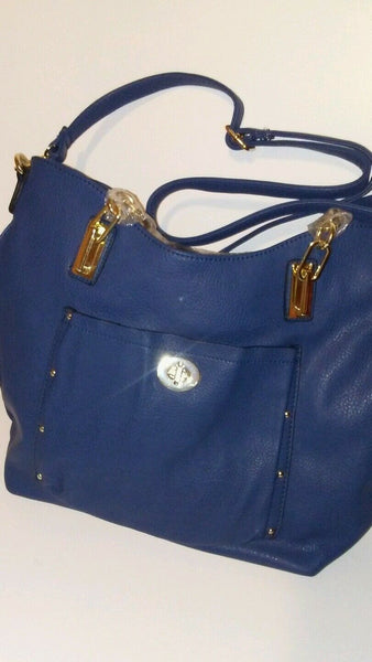 Womens Navy Blue Casual Shoulder Handbag Purse
