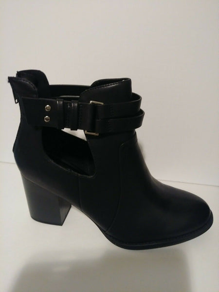 Womens Black Short Ankel Boot 9, 9.5