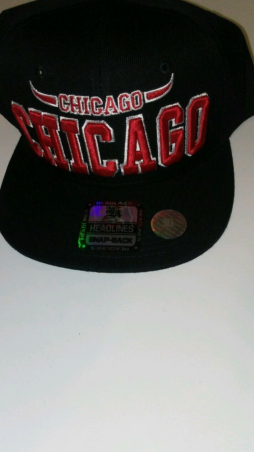 Mens Chicago Headlines Adjustable Baseball Cap