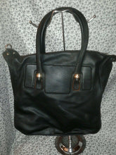 Load image into Gallery viewer, Womens Black Coal Colored Shoulder Handbag Purse