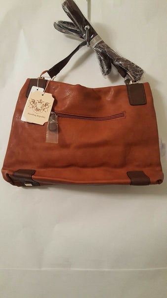 Womens Brown Cross Body Messenger Bag