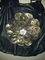 Womens Flower Rhinestone Purse