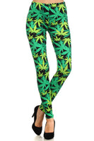 Womens Marijuana Inspired Leggigns S M L