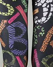 Load image into Gallery viewer, Womens Plus Size Alphabet Inspired Geometric Leggings 3X