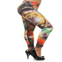 Womens Space Galaxy Leggings S M L