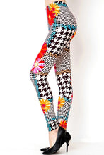Load image into Gallery viewer, Womens Floral Checkered Fall Leggings S M L