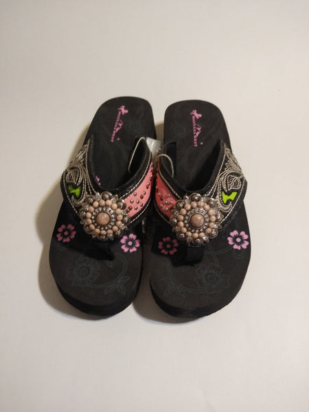 Montana West Hand Beaded Embroidered Sandals 10, 11