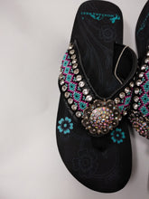 Load image into Gallery viewer, Montana West Aztec Geometric Hand Beaded Flip Flop Sandals 9, 10, 11