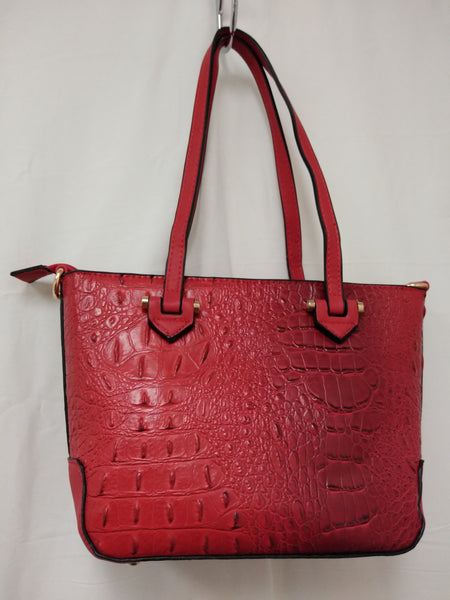 Women's Small Red textured Shoulder Bag Purse