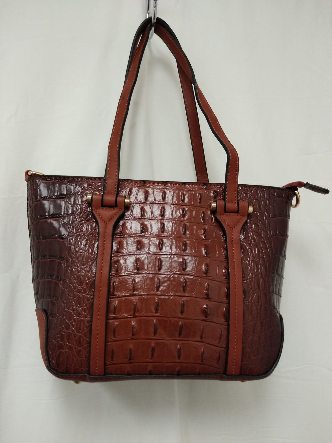 Women's Small Brown Textured Shoulder Bag