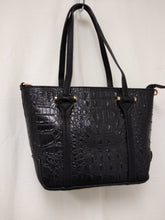 Load image into Gallery viewer, Women's Small Black Textured Shoulder Bag