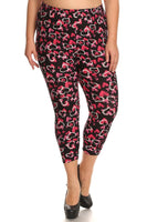 Womens Heart To Heart Valentine Plus Size Leggings XL, 1X, 2X