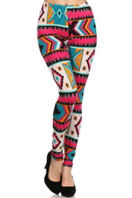 Load image into Gallery viewer, Aztec Pink Plus Size Leggings S M L