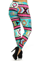Aztec Pink Plus Size Leggings S M L
