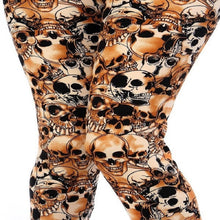 Load image into Gallery viewer, Womens Skeleton Bones Halloween Inspired Leggings S M L