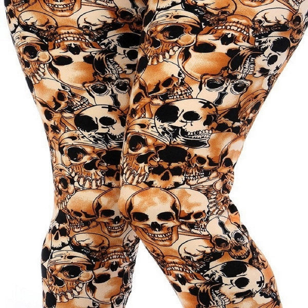 Womens Skeleton Bones Halloween Inspired Leggings S M L