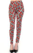 Load image into Gallery viewer, Womens Very Cherry Striped Leggings S M L