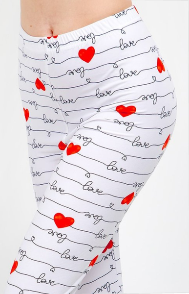 Womens Sweet Heart Leggings S M L