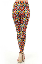 Load image into Gallery viewer, Womens Tribal Aztec Leggings S M L