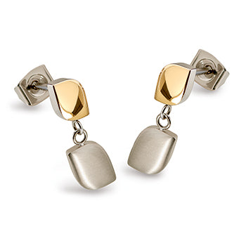 0510-02 Boccia Titanium Earrings