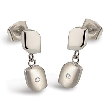 0504-01 Boccia Titanium Earrings