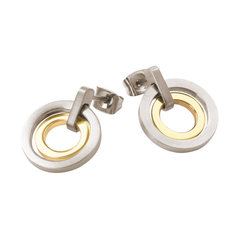 0540-02 Boccia Titanium Earrings