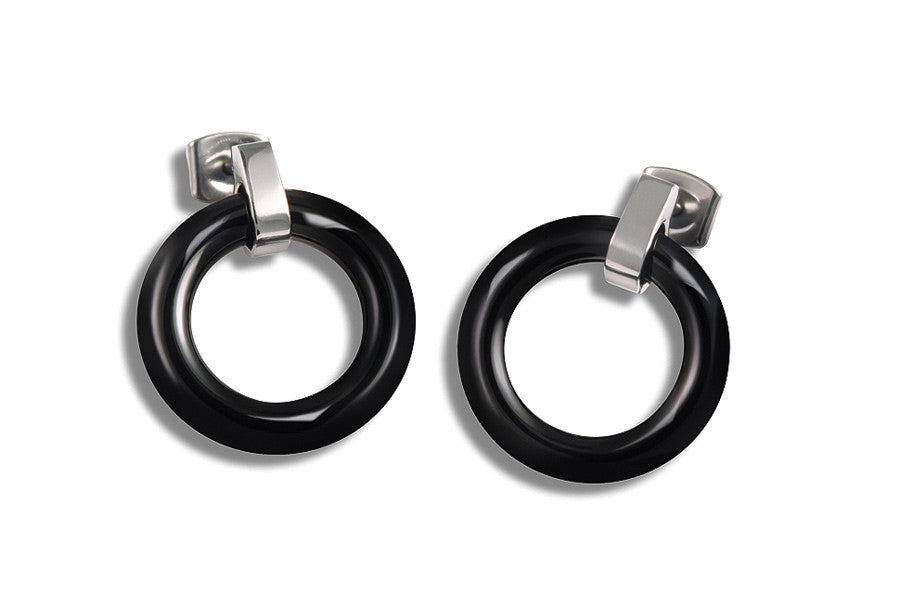 0582-02 Boccia Titanium Earrings