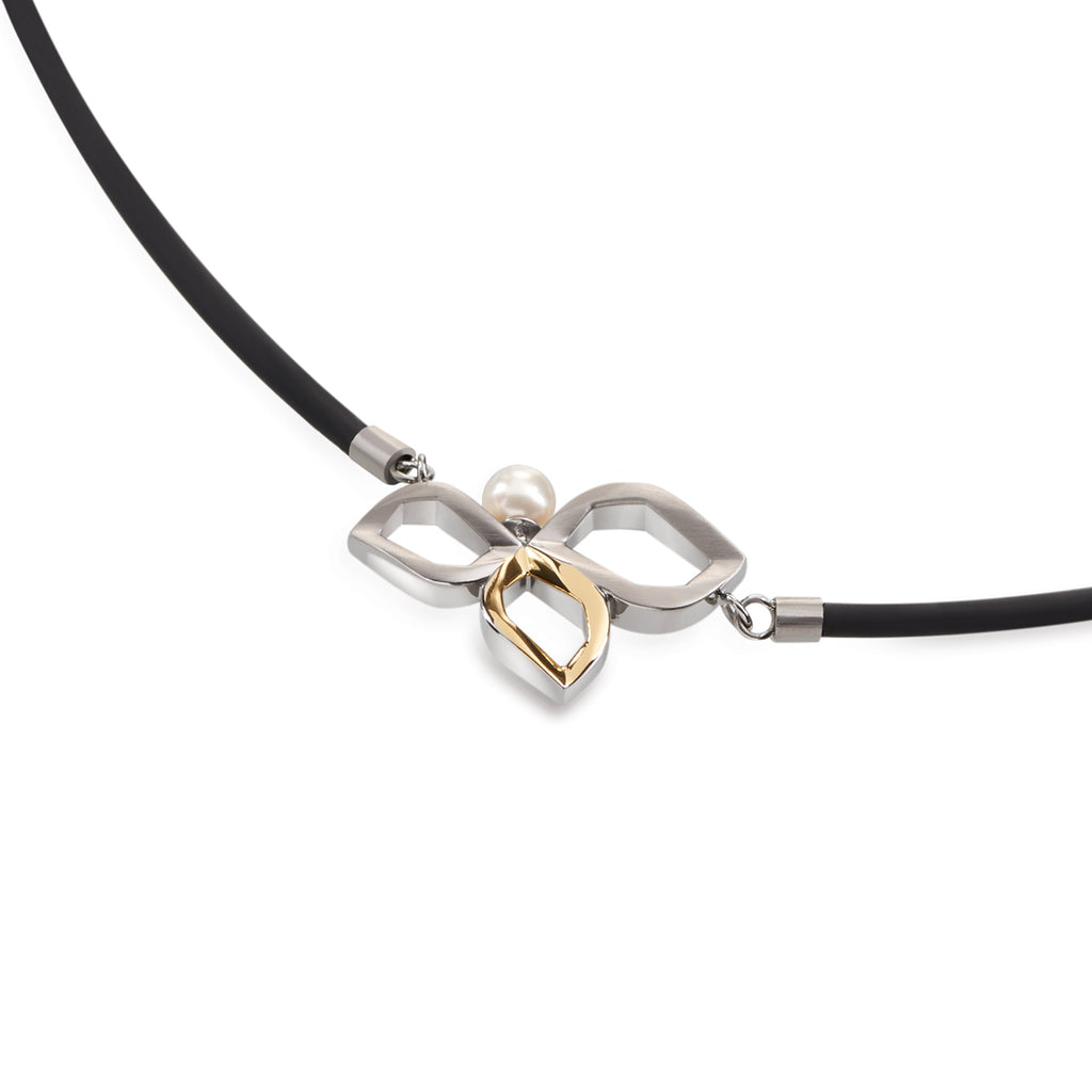 product di titanium cable small steel stainless tss black retro with diamonds wire pendant