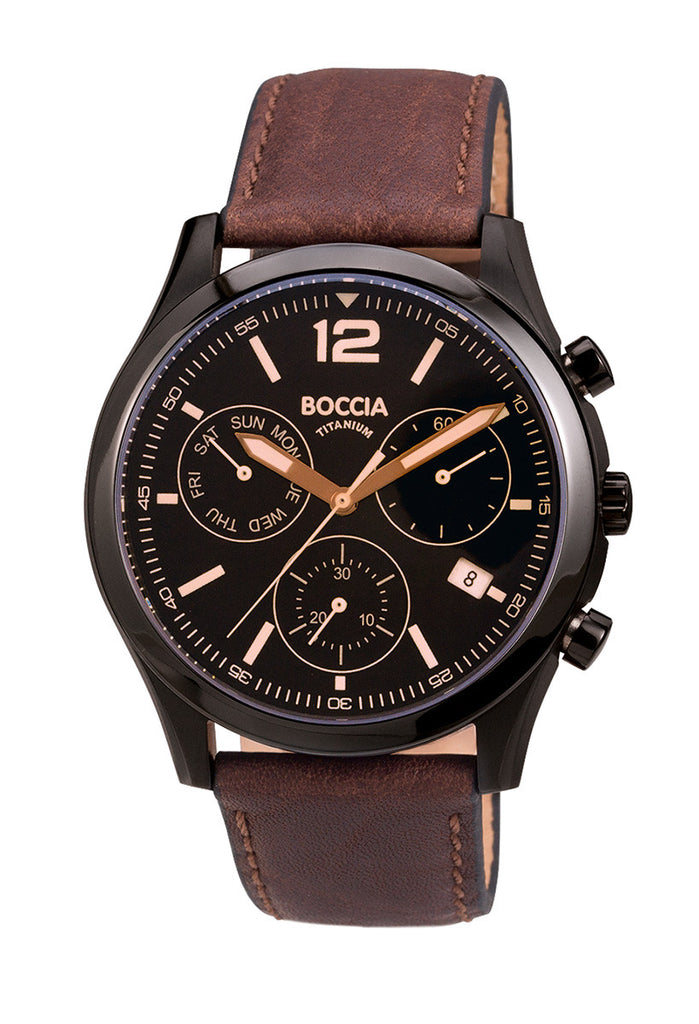 3757-02 Mens Boccia Titanium Chronograph Watch