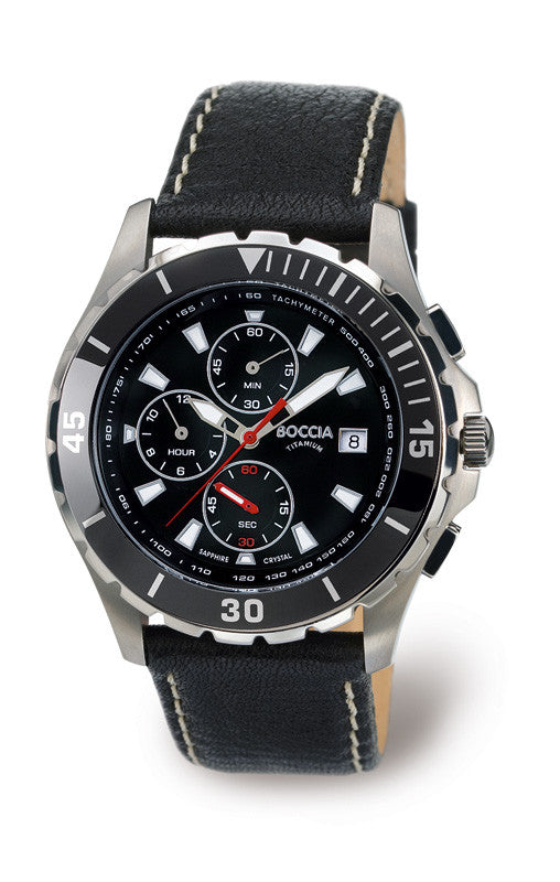 3766-01 Mens Boccia Titanium Chronograph Watch