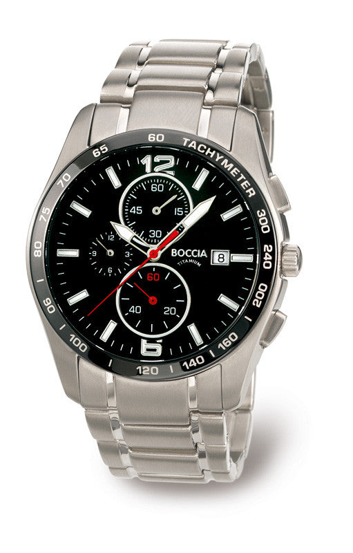 3767-02 Mens Boccia Titanium Chronograph Watch