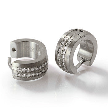 0504-02 Boccia Titanium Earrings